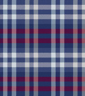 "Blizzard Fleece Fabric 59""-Patriotic Plaid"