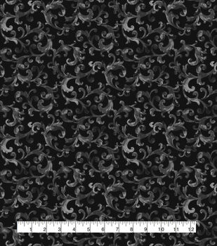 Halloween Cotton Fabric-Vines On Black