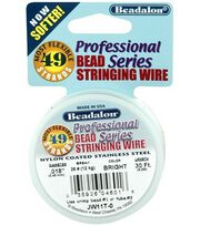 "Westrim Professional Series .018"" 49-Strand Stringing Wire-30ft/Silver, , hi-res"