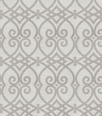 """Jaclyn Smith Upholstery Fabric 54""""-Gatework Rot/Dove Gray"""