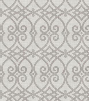 "Jaclyn Smith Multi-Purpose Decor Fabric 54""-Gatework Rot/Dove Gray"