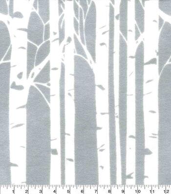 Nursery Flannel Fabric-Hazel Birch Trees