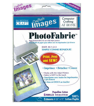 Blumenthal Craft Photofabric Cotton Poplin 5-8.5inx11in Sheets