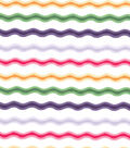 Easter Cotton Fabric-Bright Rickrack Stripes