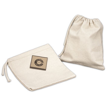 """Canvas Corp Canvas Drawstring Bag Natural 8""""x8"""""""