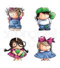 Stamping Bella 4 pk Rubber Cling Stamps-Squidgy Pals