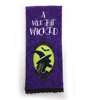 Maker's Halloween 16''x28'' Towel-A Wee Bit Wicked