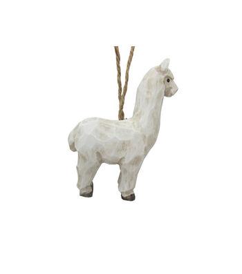 Maker's Holiday Christmas Wood Llama Ornament