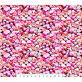 Valentine\u0027s Day Cotton Fabric-Photoreal Pink Heart Candies