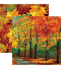 Autumn Splendor Double-Sided Cardstock 12\u0022X12\u0022-Autumn Trail