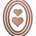 Gina K Designs 3 Nested Oval Dies-Small