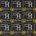 Harry Potter Cotton Fabric-Celestial Hufflepuff