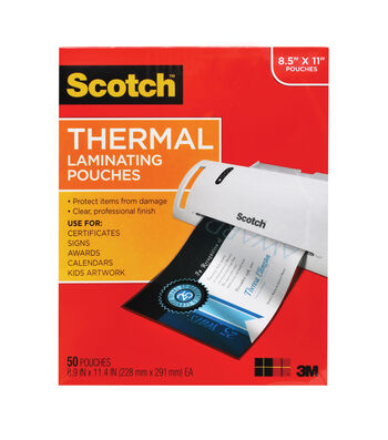 Scotch Thermal Pouches Letter Size 50pk
