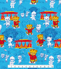 Disney Junior Daniel Tiger Cotton Fabric -Neighborhood on Blue