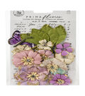 Prima Marketing Moon Child Paper Flowers with Butterfly-Light Years