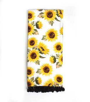 Simply Autumn 16''x26'' Towel with Trim-Sunflowers
