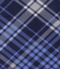 Blizzard Fleece Fabric-Kate Navy Blue Plaid