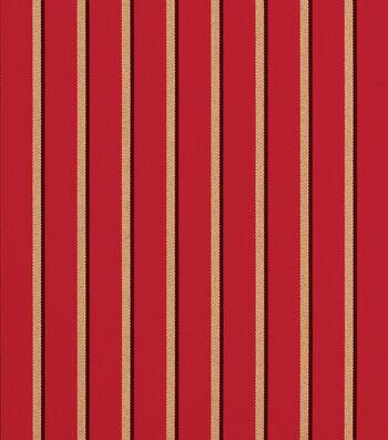 "Sunbrella Outdoor Stripe Fabric 54""-Harwood Crimson"