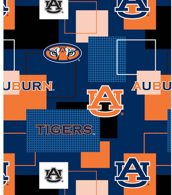 Auburn University Tigers Cotton Fabric -Logo
