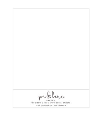Park Lane 100 pk 8.5''x11'' Value Papers-White