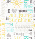 Nursery Fabric Sunlight Seaside Flannel