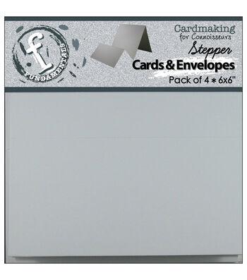 """Stepper Cards&Envelopes 6""""x6"""" 4/Pkg-White"""