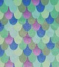 Soft & Minky Fleece Fabric -Metallic Mermaid Teal