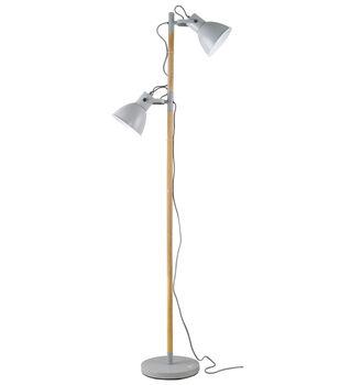 OttLite Avery LED Floor Lamp-Grey