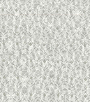 Wide Flannel Fabric-White Diamonds on Gray