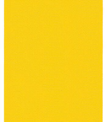 "Offray Ribbon Express 3"" Grosgrain-Yellow"