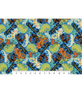 Snuggle Flannel Fabric -Patterned Geckos