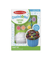 Melissa & Doug Decorate-Your-Own Cupcake Bank Craft Kit, , hi-res