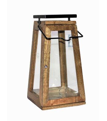 Indigo Mist 15'' Wood Lantern