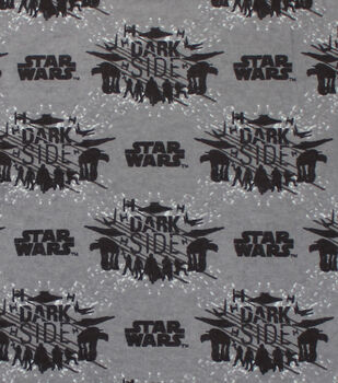 "Star Wars: The Last Jedi Flannel Fabric 42""-Dark Side"