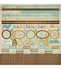 Kaisercraft Heirloom Cardstock Sticker Sheet