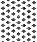 Nursery Cotton Fabric-Black Aztecs on White