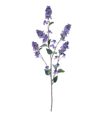 Fresh Picked Spring Tall Lilac Branch Spray-Purple