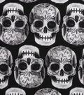 Halloween Cotton Fabric -Skeleton Sugar Skulls
