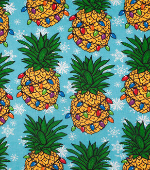 Super Snuggle Flannel Fabric-Christmas Pineapple