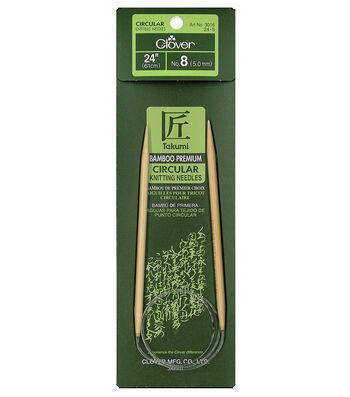 "Takumi Bamboo Circular Knitting Needles 24""-Size 8/5mm"