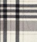 Anti-Pill Fleece Fabric -Gray Plaid