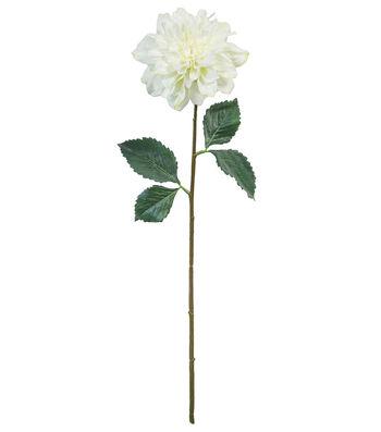 Fresh Picked Spring 27'' Dahlia Stem-White