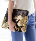 Reversible Sequin Fabric -Black & Gold
