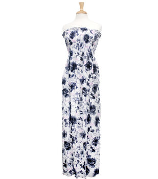 Style In An Instant  Shirred Dress Sketch Floral White