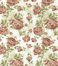 Premium Wide Cotton Fabric 108\u0022-Large Floral Red & Orange