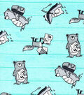 Nursery Cotton Fabric-Tossed Wild Animals