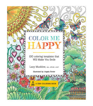 Adult Coloring Book-Race Point Publishing Color Me Happy