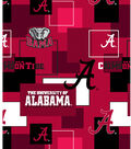 University of Alabama Crimson Tide Cotton Fabric -Modern Block