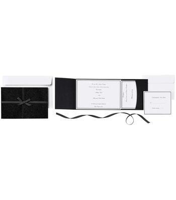 Invitation Kit Black Glitter 25ct