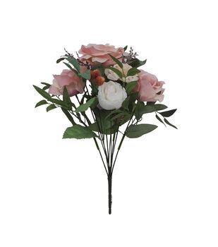 Blooming Autumn Mood Rose Bush-Pink & White